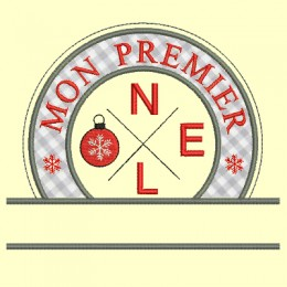 logo Noel personnalisable - 2 versions, 3 tailles