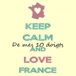 Keep Calm & love France - 10x18
