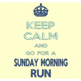 keep Calm and go for a sunday morning run - cadre 13x18 cm