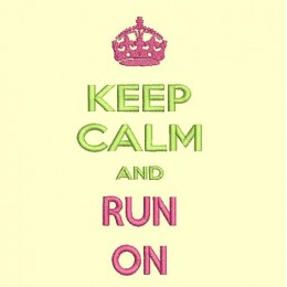 keep Calm and run on - cadre 13x18 cm