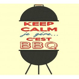 Barbecue : keep calm, je gère, c'est BBQ - Version 2 - 3 tailles