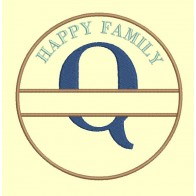 Happy Family - lettre Q - 4 tailles