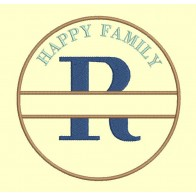 Happy Family - lettre R - 4 tailles