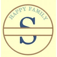 Happy Family - lettre S - 4 tailles