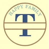 Happy Family - lettre T - 4 tailles