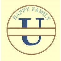Happy Family - lettre U - 4 tailles