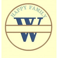 Happy Family - lettre W - 4 tailles