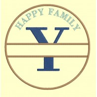 Happy Family - lettre Y - 4 tailles