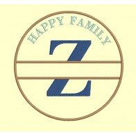 Happy Family - lettre Z - 4 tailles