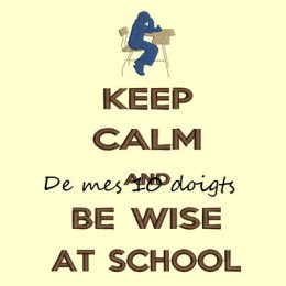 Keep Calm And be wise to school - 10x18cm