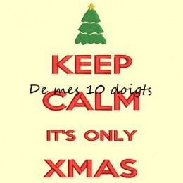 Keep Calm Christmas - 10x18cm